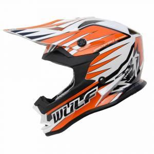 Wulfsport Kids Advance Orange Motocross Helmet