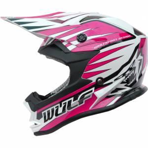 Wulfsport Kids Advance Pink Motocross Helmet
