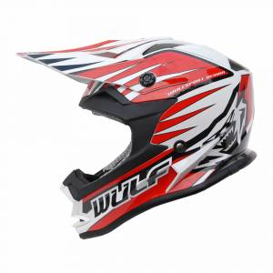 Wulfsport Kids Advance Red Motocross Helmet