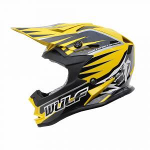 Wulfsport Kids Advance Yellow Motocross Helmet