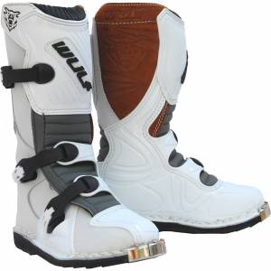 Wulfsport Kids LA White Motocross Boots