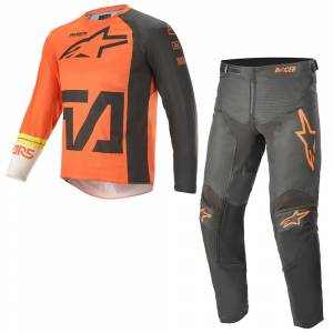 Alpinestars Kids Racer Compass Anthracite Orange Motocross Kit Combo