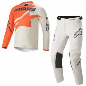 Alpinestars Kids Racer Braap Orange Grey Blue Motocross Kit Combo