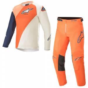 Alpinestars Kids Racer Blaze Orange Dark Blue Motocross Kit Combo