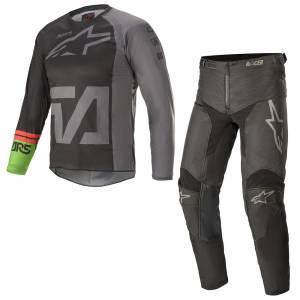 Alpinestars Kids Racer Compass Black Grey Motocross Kit Combo