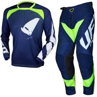 UFO Proton Neon Blue Motocross Kit Combo