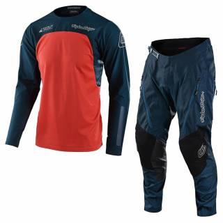 Troy Lee Designs Scout SE Systems Marine Orange Motocross Kit Combo