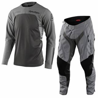 Troy Lee Designs Scout SE Systems Grey Motocross Kit Combo