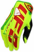 UFO Blaze Neon Yellow Motocross Gloves