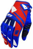 UFO Red Blue Trace MX Gloves