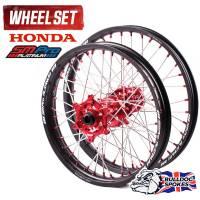 SM Pro Platinum Motocross Wheel Set - Honda Red Black Red