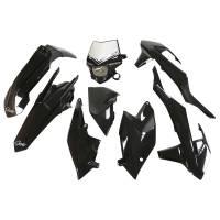 UFO Plastic Kit KTM EXC EXC-F Black