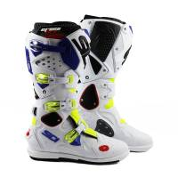 Sidi Crossfire 2 SRS Yellow Fluo White Blue Motocross Boots