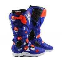 Sidi Crossfire 3 SRS White Blue Red Fluo MX Boots