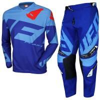 UFO Kids Mizar Blue Light Blue Motocross Kit Combo