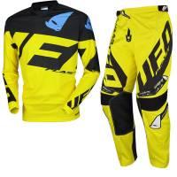 UFO Kids Mizar Yellow Black Motocross Kit Combo