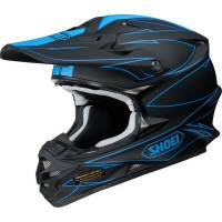 Shoei VFXW Helmet - Hectic Matt Black Blue TC2