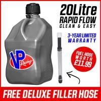 VP Racing 20L Quick Fuel Jug Square - Silver