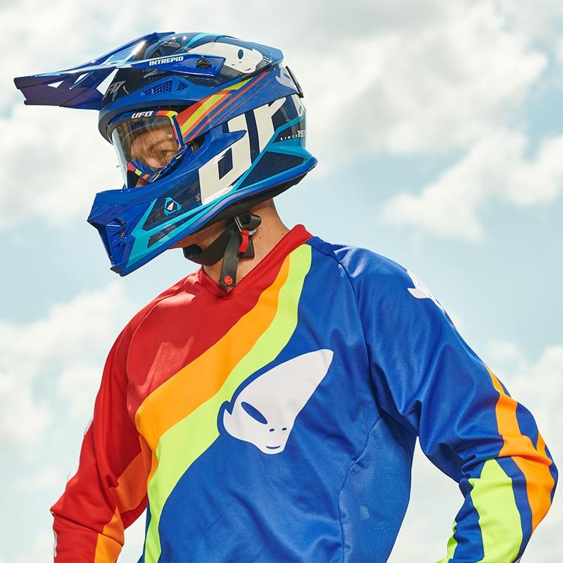 UFO blue sky blue Intrepid MX Enduro Helmet