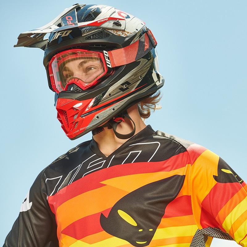 UFO Grey Red Intrepid MX Enduro Helmet