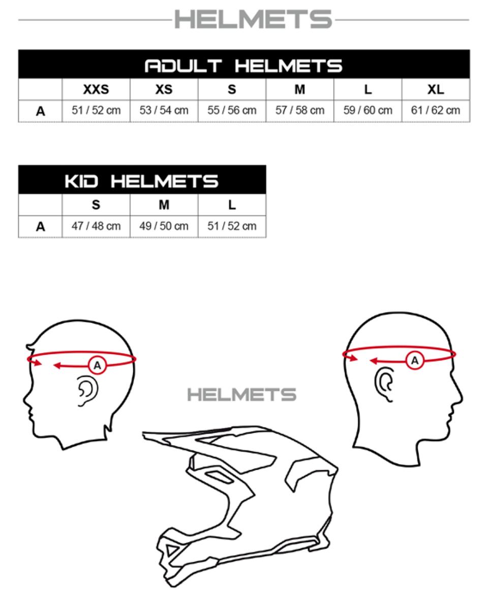UFO helmet size guide